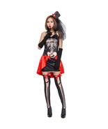 Halloween Skeleton Vampire Patchwork Skull Cosplay Suit - $39.80