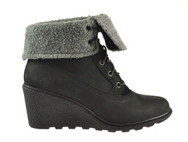 Timberland Earthkeepers Amston Roll Top Women's Boots Black 8258a - $137.95