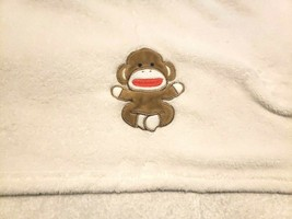 Baby Starters Infant Blanket Solid White Sitting Monkey Boy Girl  - $22.28