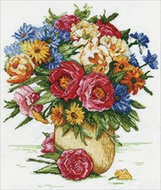 """Design Works Counted Cross Stitch Kit 14""""X16""""-Majestic Floral (14 Count) - $31.56"""