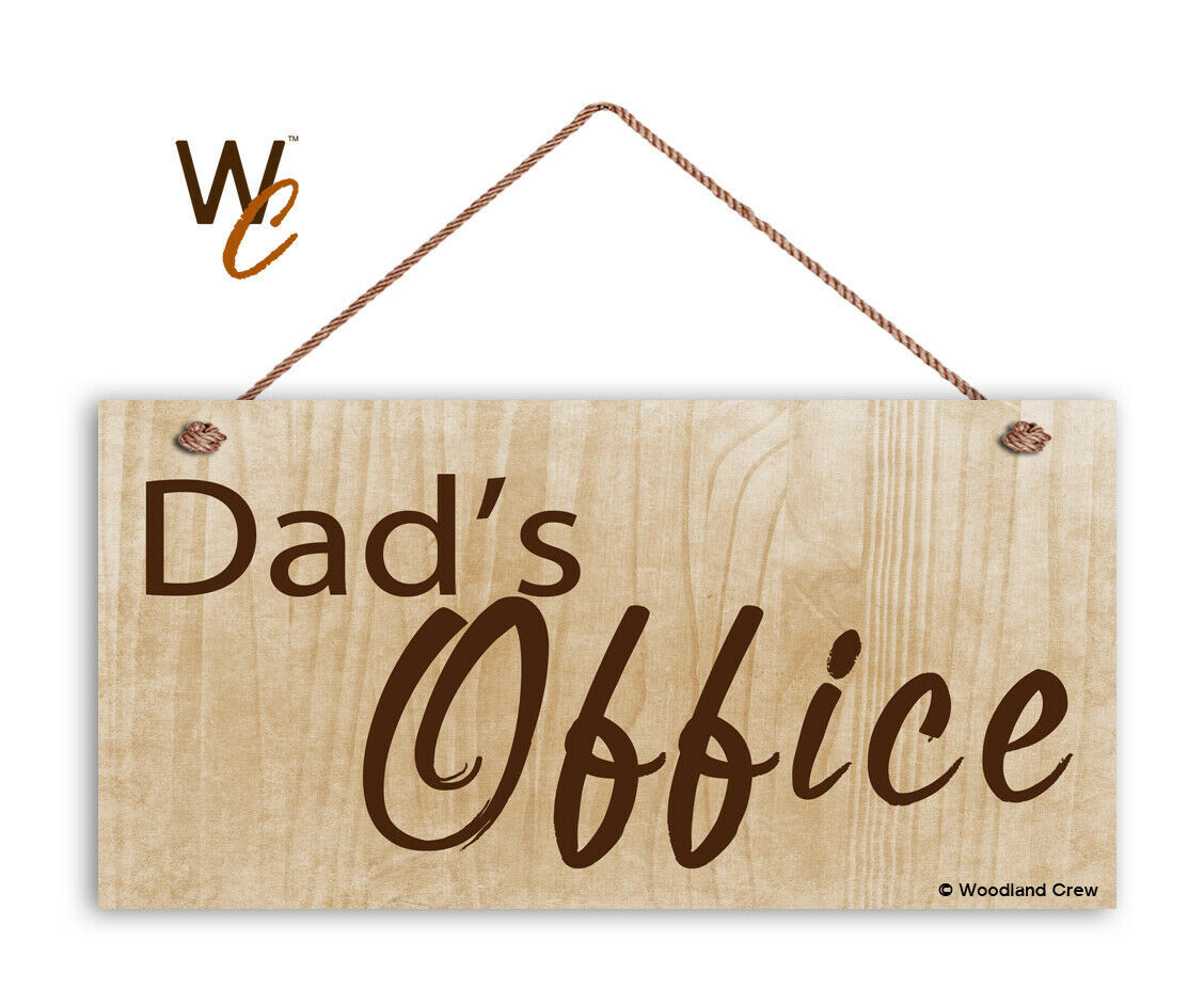"""Dad's Office Sign, Gift For Dad, Father's Day Gift, Wood Sign, 5"""" x 10"""" Sign"""