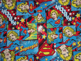 Marvel Supergirl Fabric Hair Scrunchie Scrunchies by Sherry  - $6.99