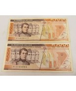 Lot of 2 Mexico 1985 Mexico Banknote 5000 Pesos  Paper money Currency - $25.00