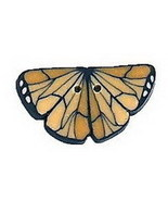 """Tiny Monarch Butterfly 1107t handmade clay button .625"""" JABC Just Anothe... - $1.80"""