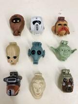 Vintage Star Wars Micro Machine Transforming Head Lot Of 9 - $59.39