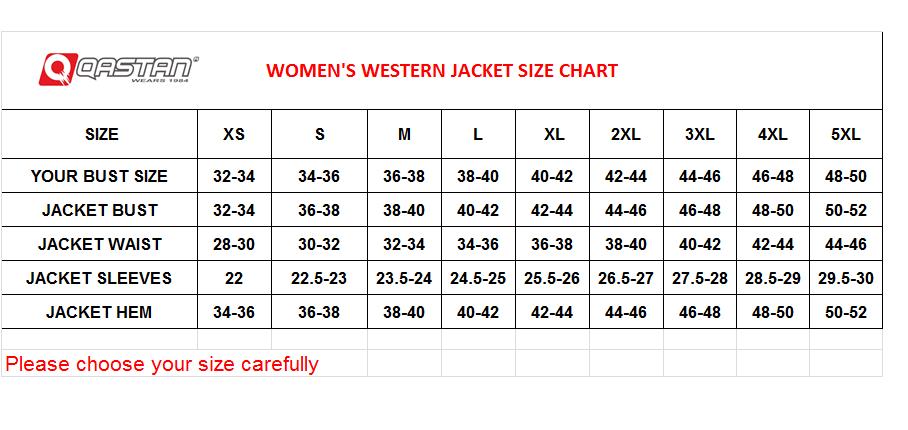 QASTAN Women's New Beige Fringes / Conchos Suede Cow Leather Jacket WWJ14D image 3