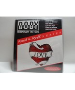 Body Prints Temporary Tattoos - Rock N Roll Series Love Heart - $12.73