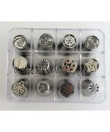 12pcs Russian Piping Nozzle Tips Stainless Steel Set + Storage FAST USA ... - $5.89