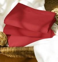 RALPH LAUREN CINNABAR QUEEN SHEET SET/2 100%ORGANIC COTTON 400TC RED SOL... - $344.55
