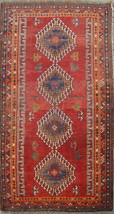 Stunning Semi Antique Persian Shirazi rug 100% wool hand knotted area rug - $252.02