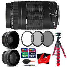 Canon EF 75-300mm f/4-5.6 III Lens + 58mm UV  CPL ND Filter + Telephoto ... - $128.19