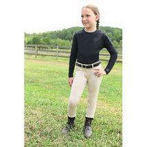 KAKI Kids Child Youth Long Sleeve Exercise Riding Shirt Black Size 14 image 1