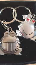 pair love you frogs 1 pair complete keyrings metal keychain keyring