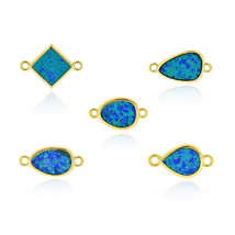Blue Ocean Opal Connector Link Charms,Bean/Water/Square Shape for Person... - $6.99