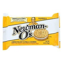 Newman's Own Organics Creme Filled Cookies - Vanilla - Case Of 6 - 8 Oz. - $38.96