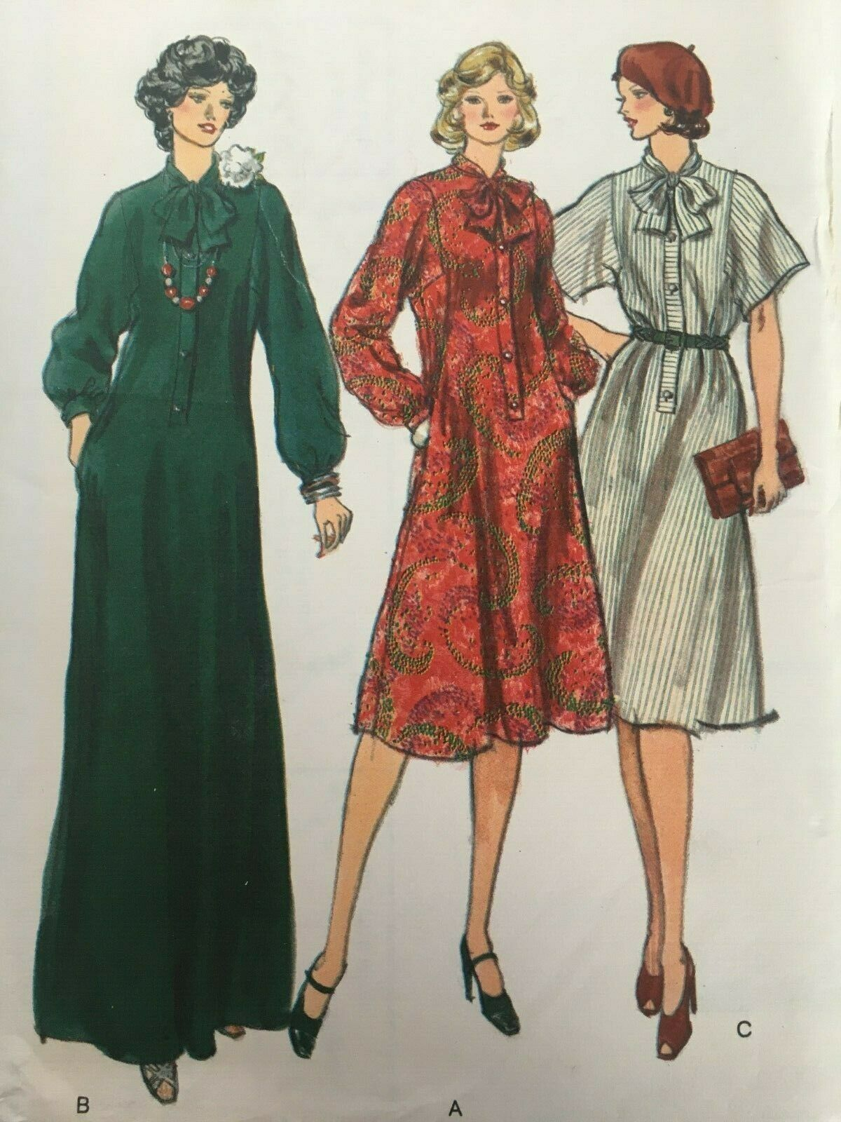 Primary image for Vogue Sewing Pattern 9337 Half-Size Dress Evening A-Line Vintage Long Sleeves UC