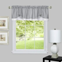 "Achim Home Furnishings, Grey/White DRVL14GW12 Darcy Window Curtain Valance, 58"" - $27.66"