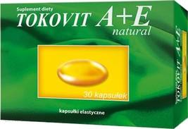 Tokovit A+E natural 30 kap Witamina A+E healthy skin MAX VITA HASCO AVET... - $6.99