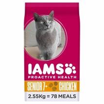 Iams Senior & Mature Dry Cat Food Chicken 2.55kg - $55.04