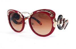 PRADA Women's Sunglasses PR07TS Red Acetate MINIMAL BAROQUE 140 ITALY - ... - $229.50