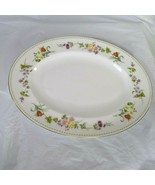 Wedgwood Bone China Oval Platter Mirabelle R4537 Floral 14 x 11 Inch Gol... - $39.59