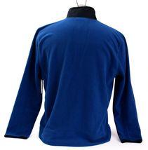 Nautica Blue & Black Zip Front Fleece Jacket Men's NWT image 5