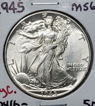 1945 Walking Liberty Half Dollar 90% Silver Coin Lot# E 158