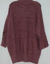 Simply Noelle Brand JCKT222Z Womens Mauve Zippered Sweater Jacket Size XXL image 6
