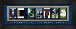 University of California - Davis Officially Licensed Framed Campus Lette... - $39.95