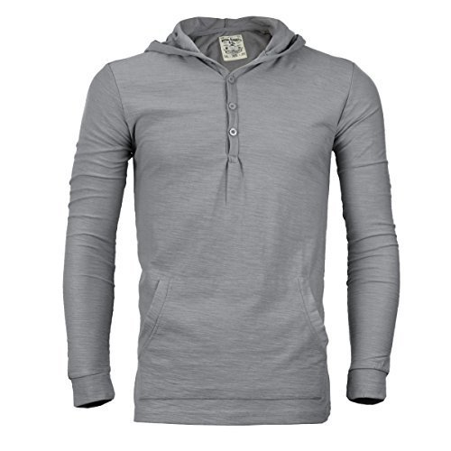 Royal Knights Men's Lightweight Slim Fit Pullover Henley Shirt Hoodie (Small, 05