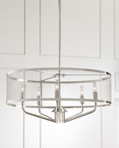 NEW Horchow Open Cage Chandelier Mid Century Modern Industrial Drum Pendant $450 - $335.61