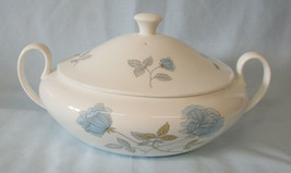 """Wedgwood Iced Rose Oval Covered Serving Bowl 10 3/4"""" - $65.23"""