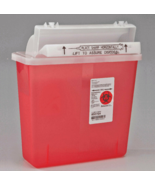 NEW Sharpstar Covidien Sharp Container Biohazard 5Qt Red In-Room Counter... - $47.40