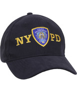 Official NYPD Emblem Cap, Navy Blue Gold New York Police Department Lice... - $14.99