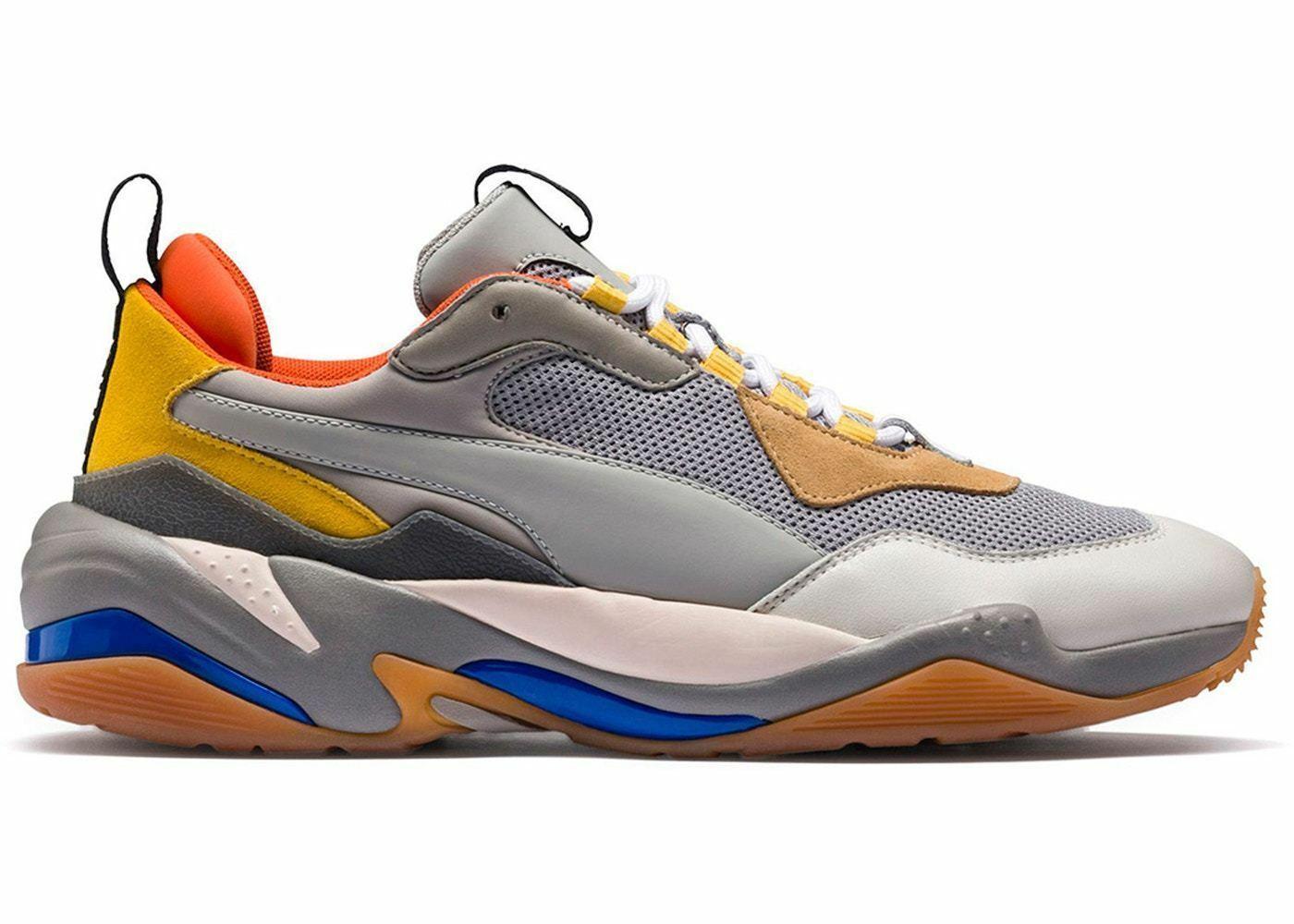 Uomo Puma Thunder Spectra Drizzle Grigio Acciaio Giallo Arancione 367516-02