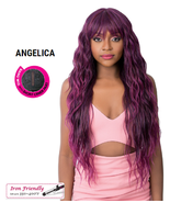 IT'S A WIG SYNTHETIC ANGELICA LONG LOOSE WAVY IRON FRIENDLY BANG W CENTE... - $32.99