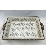Temp-Tations - Floral Lace Black - Rectangular pan w/underplate, lid & r... - $29.21