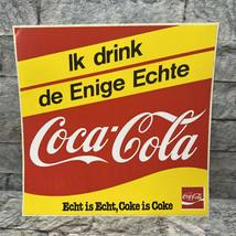 Vintage Coca Cola Echt is Echt Netherland International Sticker - $19.79