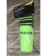New Mitre Junior Shin Guard Soccer Socks, Neon Green Sealed - $12.99