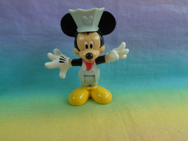2013 Mattel Disney Mickey Mouse Train Conductor PVC Figure Bends at Waist - $4.90