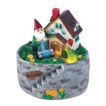 Lawn Gnome, Storybook Home Village Outdoor Garden Gnomes - $31.49