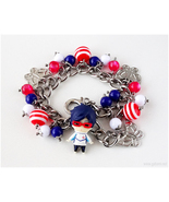 FREE Rei Charm Bracelet, Anime Jewelry, Chibi Characters, Mascot, Kawaii - $45.00