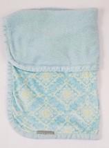 "Blankets & Beyond Teal Blue & Green Damask Baby Security Blanket 28"" X 31"" - $37.04 CAD"