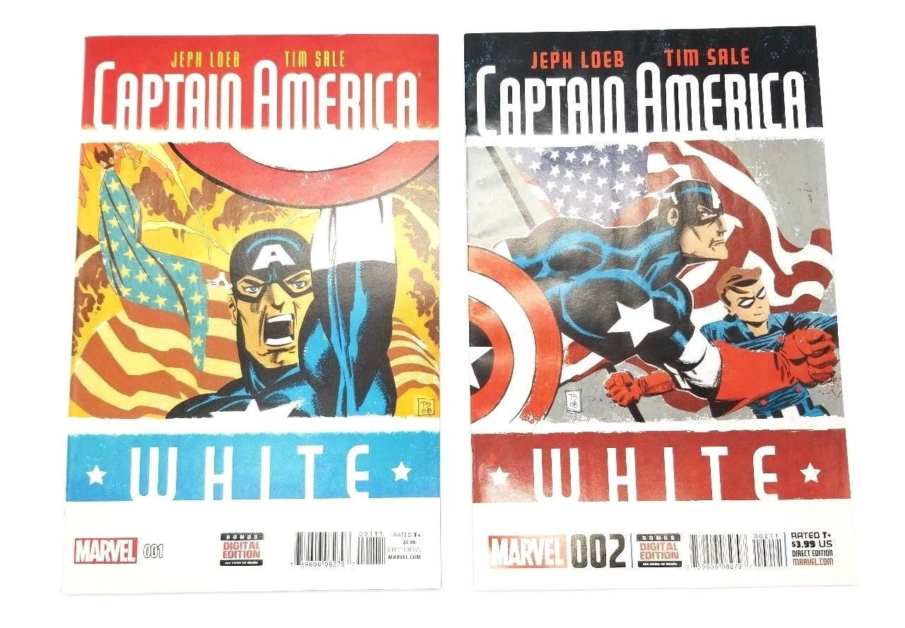 Captain America White 1 & 2 November 2015 Marvel Comics Jeph Loeb Tim Sale