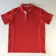 Nike Golf Tour Performance Mens Sz Xl Red DRI-FIT S/S Polyester Polo Shirt Red - $23.74