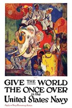 Give the world the once over in the United States Navy by James Henry Da... - $19.99+