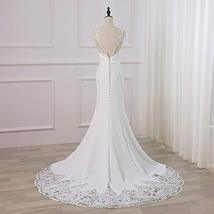Luxury Backless Lace Appliques Mermaid Wedding Gown Ballroom Dress for Bride image 6