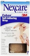 Nexcare Coban Self-Adherent Wrap, 1 Inch X 5 Yards, 5 Tan Wraps