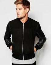 Men Black Leather Jacket Genuine Lambskin Leather Slim Fit Biker Jacket - BNWT - $114.99