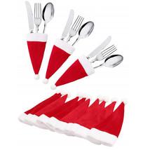Christmas Decor tableware Xmas Caps Cutlery Holder Knife Fork Set Spoon ... - $6.00